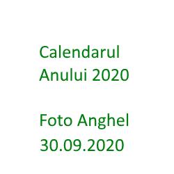 Calendarul Anului 2020